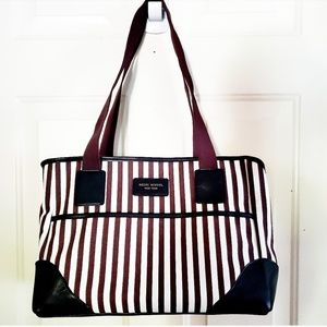 🎉Henri Bendel Brown Stripe Leather Large Bag🎉
